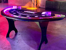 LED Lighted BlackJack Table