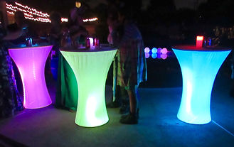 Lighted LED Cocktail Tables Orange County
