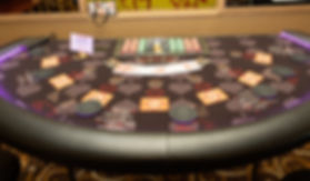 Lighted LED Three Card Poker Table