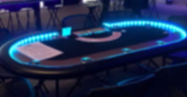 Lighted LED Poker Table