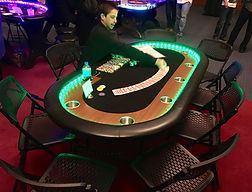 LED Lighted Texas Hold 'em Table Orange County