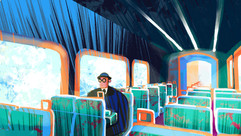 Early Background Exploration with Character in Scene