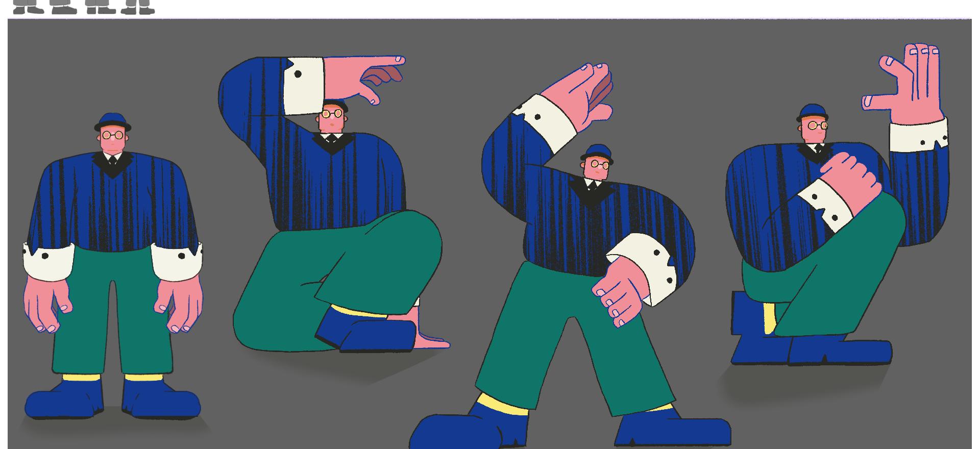 Wallace Character Poses