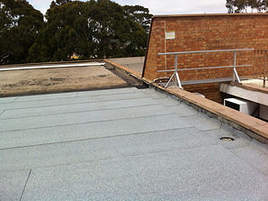 mechanically fixed roof membrane