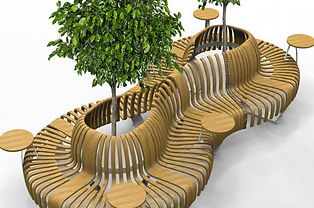Модульные скамейки для торгового центра.