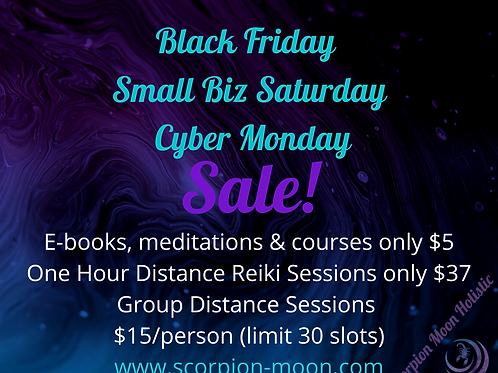 Black Friday- Cyber Monday  Distance Reiki Session