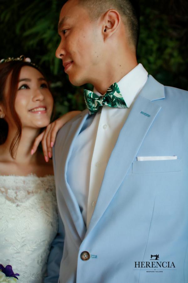 Korean Light Blue Suit