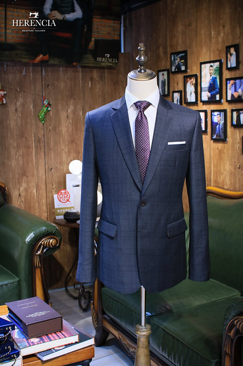 Charcoal Glen Check Suit