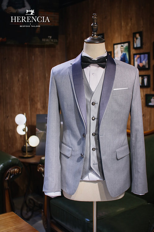 Elegant Ash Grey Tuxedo