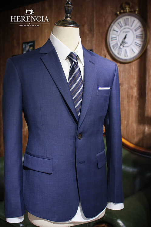 VBC Glen Check Blue Suit