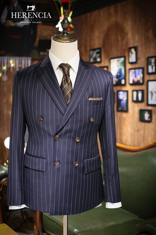 VBC Navy Stripe Double-breasted Suit