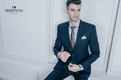 Stripe Navy Blue Suit