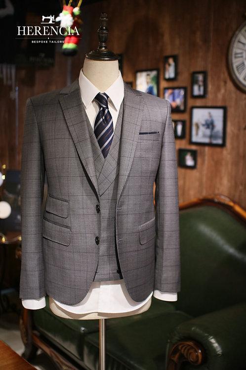 Marzoni Windowpane grey suit