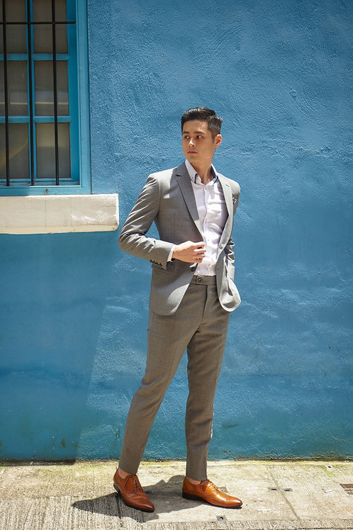 Hesworth Open Weave Light Grey Suit