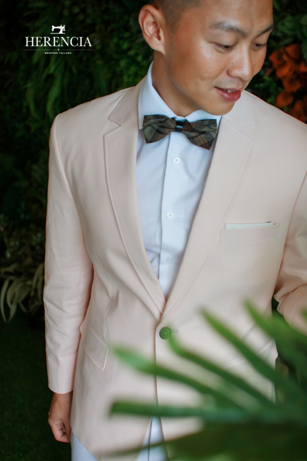 Pink Blazer with Beige Vest