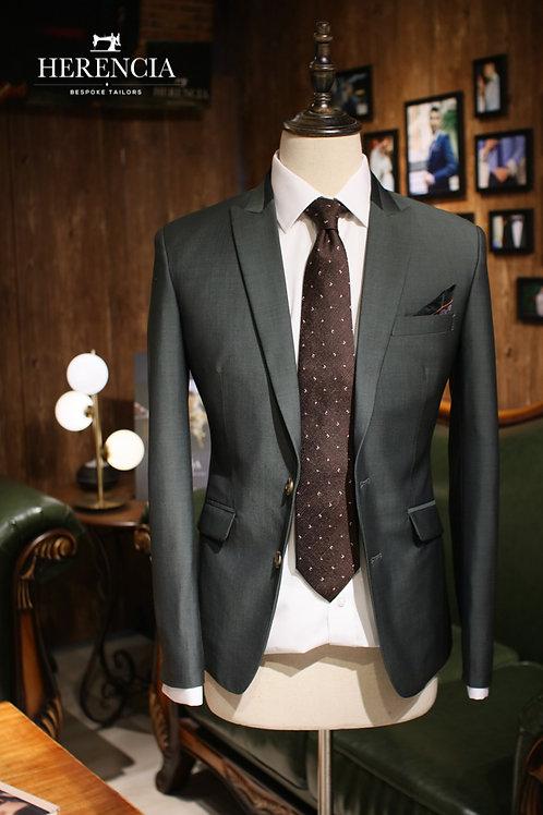 Mazoni Dark Green Suit