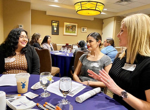 Dr. St. Peter at a mentor lunch with some student involved with Elevate Phoenix