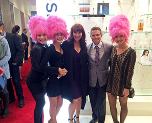 Dr Gawley with Holly Rose and her 'Wig Girls'