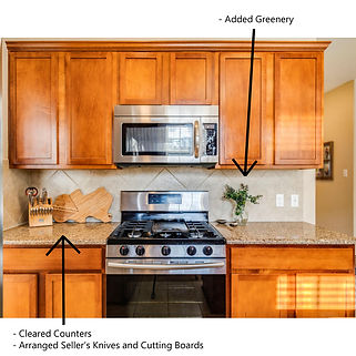 Owner Occupied Home Staging Kitchen
