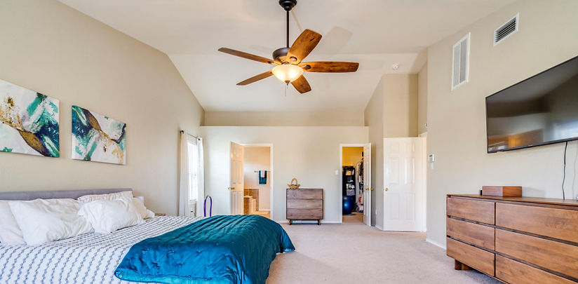 Owner Occupied Staged Master Bedroom
