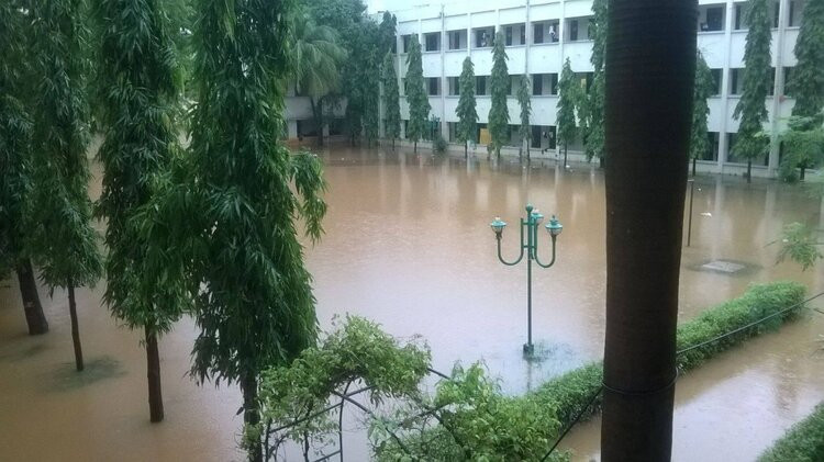 IIT Madras hostel during the floods