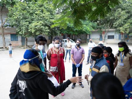 """Millennium Fellows at NIT Karnataka supporting women and children through project """"Nurture"""""""