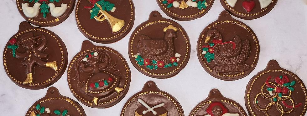 12 days of Christmas - chocolate tree decoration