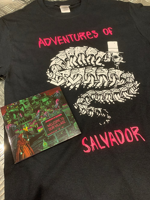 Salvador T-Shirt with Welcome To Our Village CD