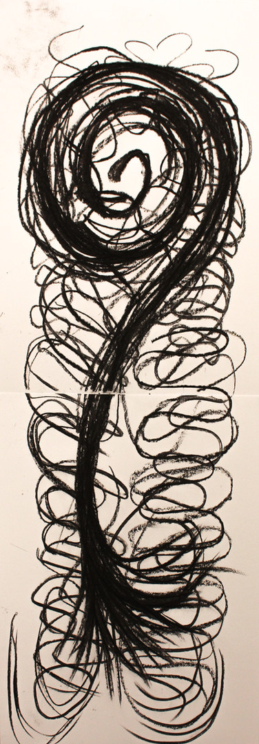 carcoal on paper