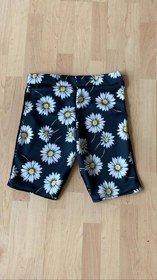 Daisy print cycling shorts