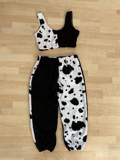 Cow print joggers set