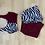 Thumbnail: Zebra and maroon purple loungewear set