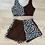 Thumbnail: Leopard print and chocolate brown loungewear set