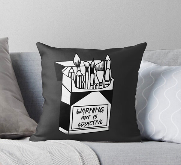 Art is addictive pillow