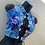 Thumbnail: Blue marble swirl tie up top