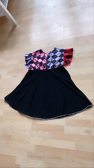 Harlequin smock dress