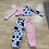 Thumbnail: Cow print long sleeve joggers set