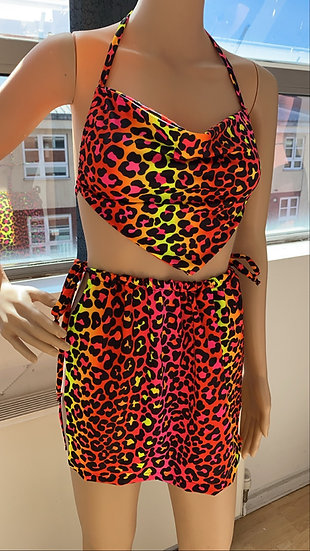 Lava leopard skirt set