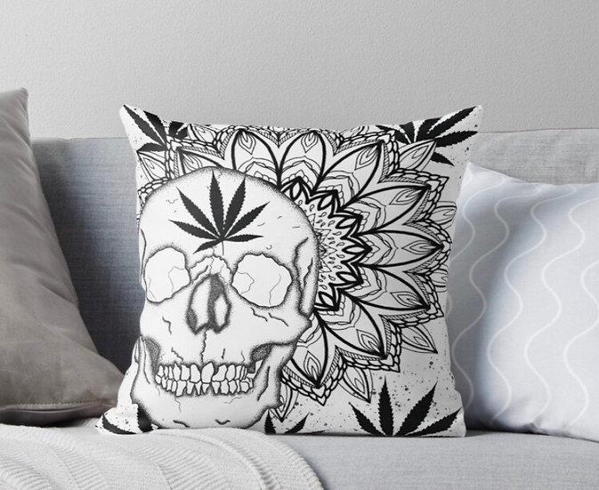 White mandala pillow