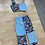 Thumbnail: Zebra and baby blue patchwork joggers set
