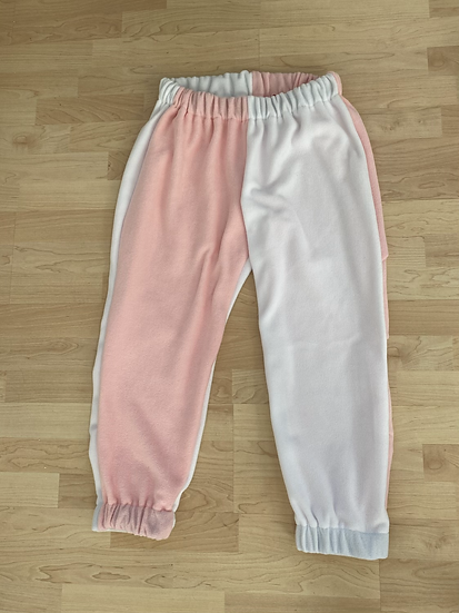 Baby pink and white joggers