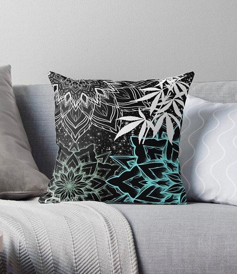 Space mandala pillow
