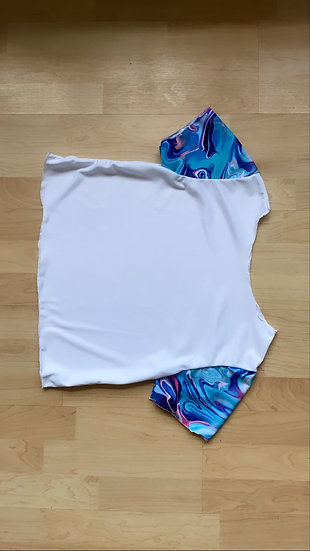 White marble crop top