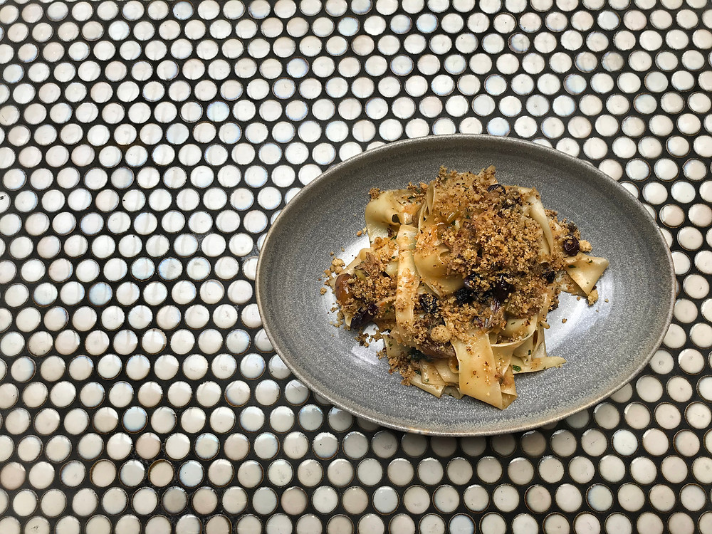New 2018 Winter Dish added to the Lalla Rookh Menu - Pappardelle, Wagin Duck, Chestnuts, Radicchio