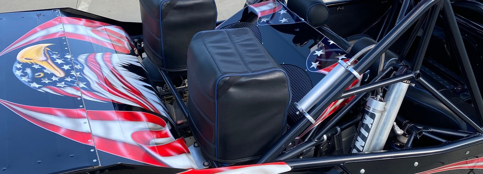 Wing trunk with large racing radiator
