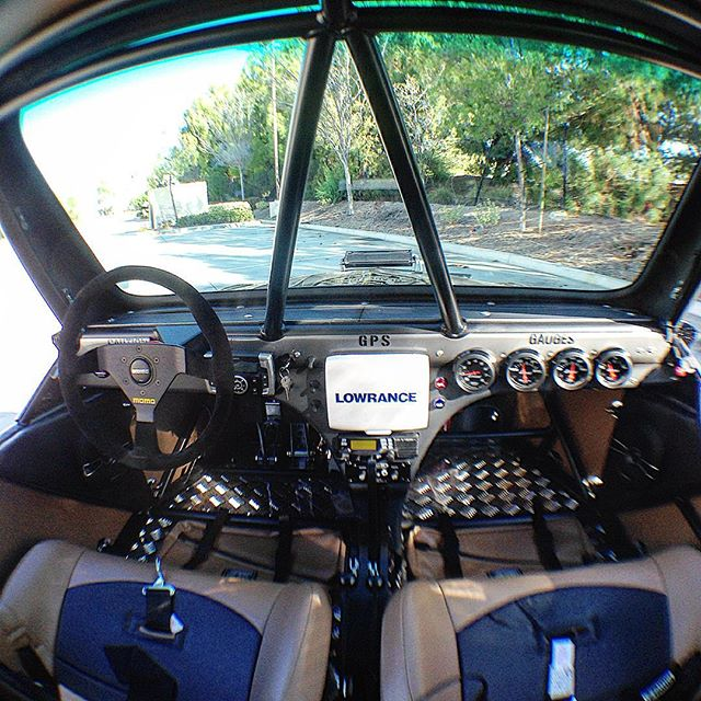 An inside shot of the newly finished car. Trevor (master fabricator) hand crafted this dash