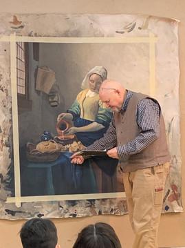 Joe critiques a Vermeer copy.
