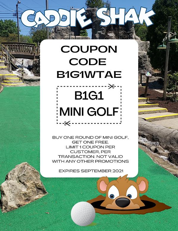 Caddie Shak B1G1 Mini Golf Coupon WTAE (