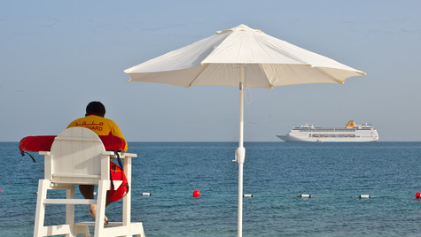 Lifeguard Baniyas Island Arabian Gulf