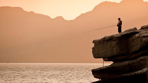 Fisherman at Dawn Musandam Oman